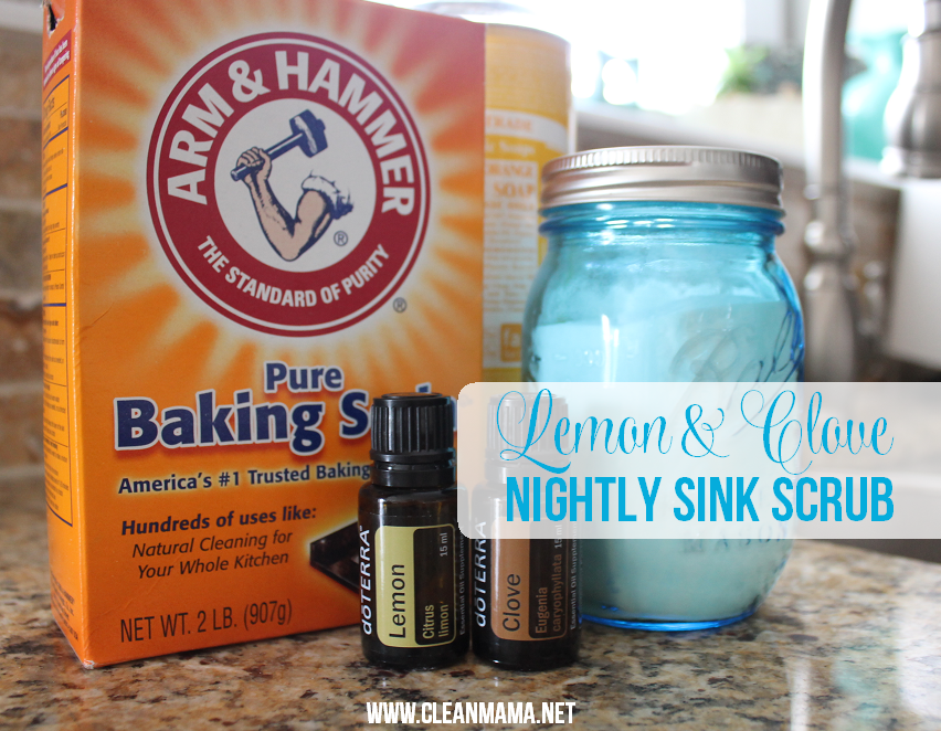 Clean Mama Lemon and Clove sink scrub